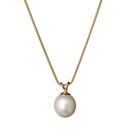 Jersey Pearl White pearl 9ct yellow gold pendant