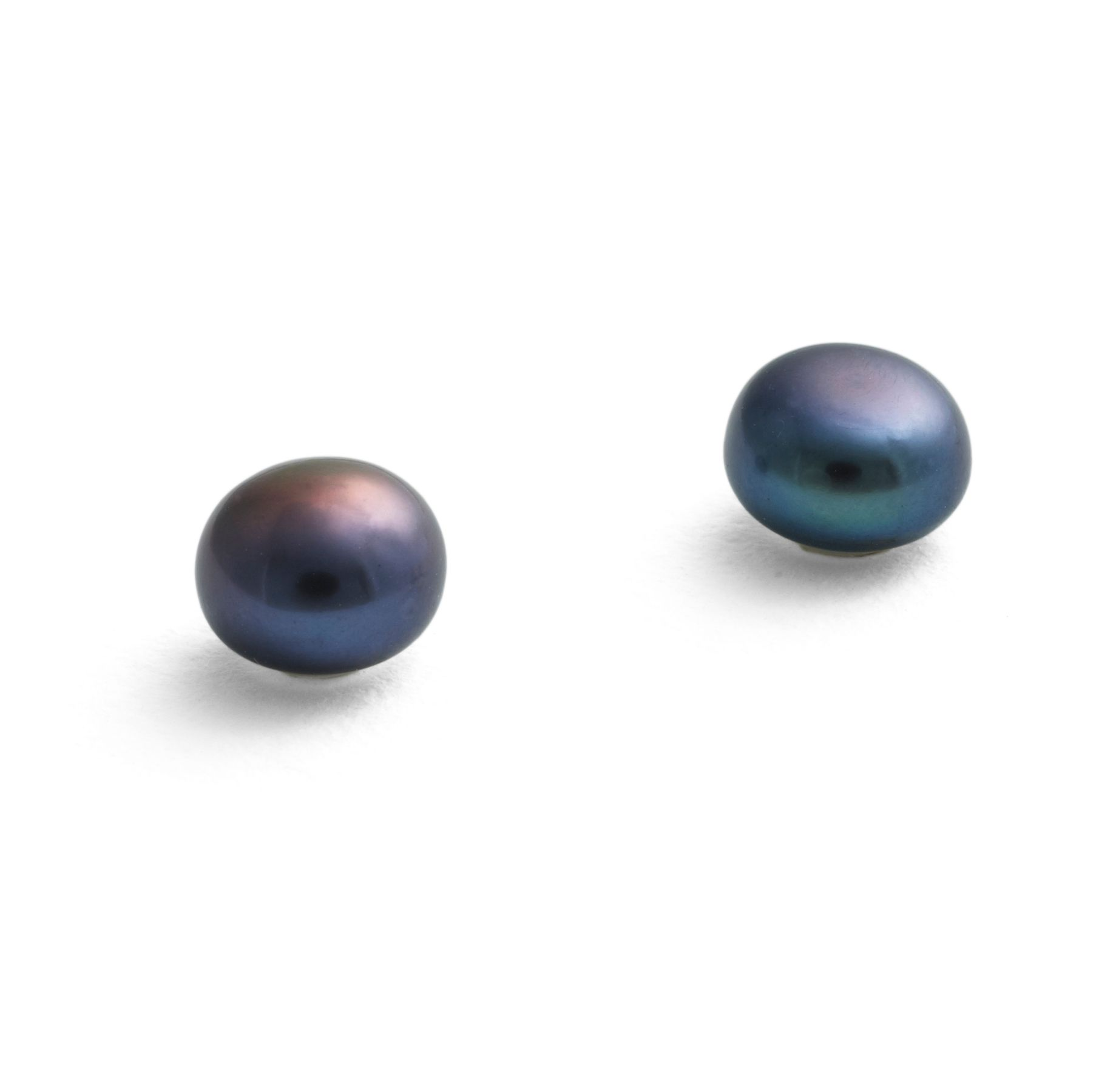 Medium Black Pearl Earrings