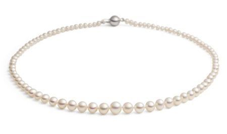 Jersey Pearl White graduated necklace