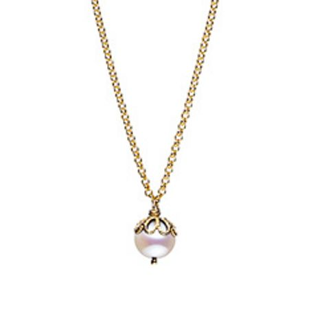 Jersey Pearl Emma kate gold pearl filigree pendant