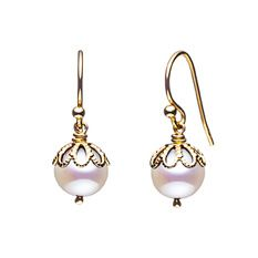 jersey pearl emma kate gold pearl filigree drop earrings