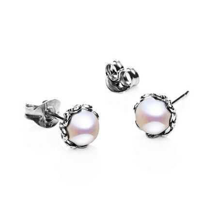 Jersey Pearl Emma kate white pearl filigree studs