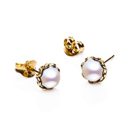 Jersey Pearl Emma kate gold pearl filigree earrings