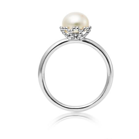 Jersey Pearl Emma kate white pearl filigree ring