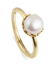 Emma kate white pearl gp filigree ring