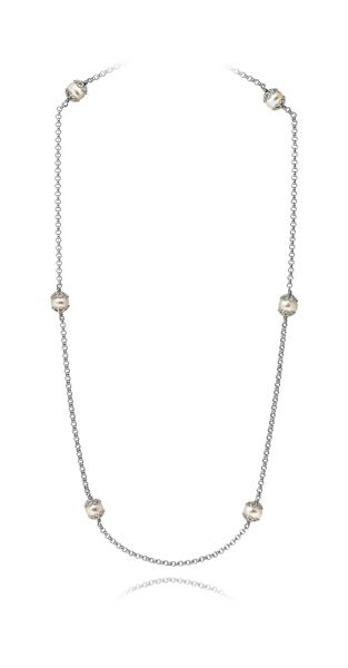 Jersey Pearl Emma kate white pearl filigree necklace