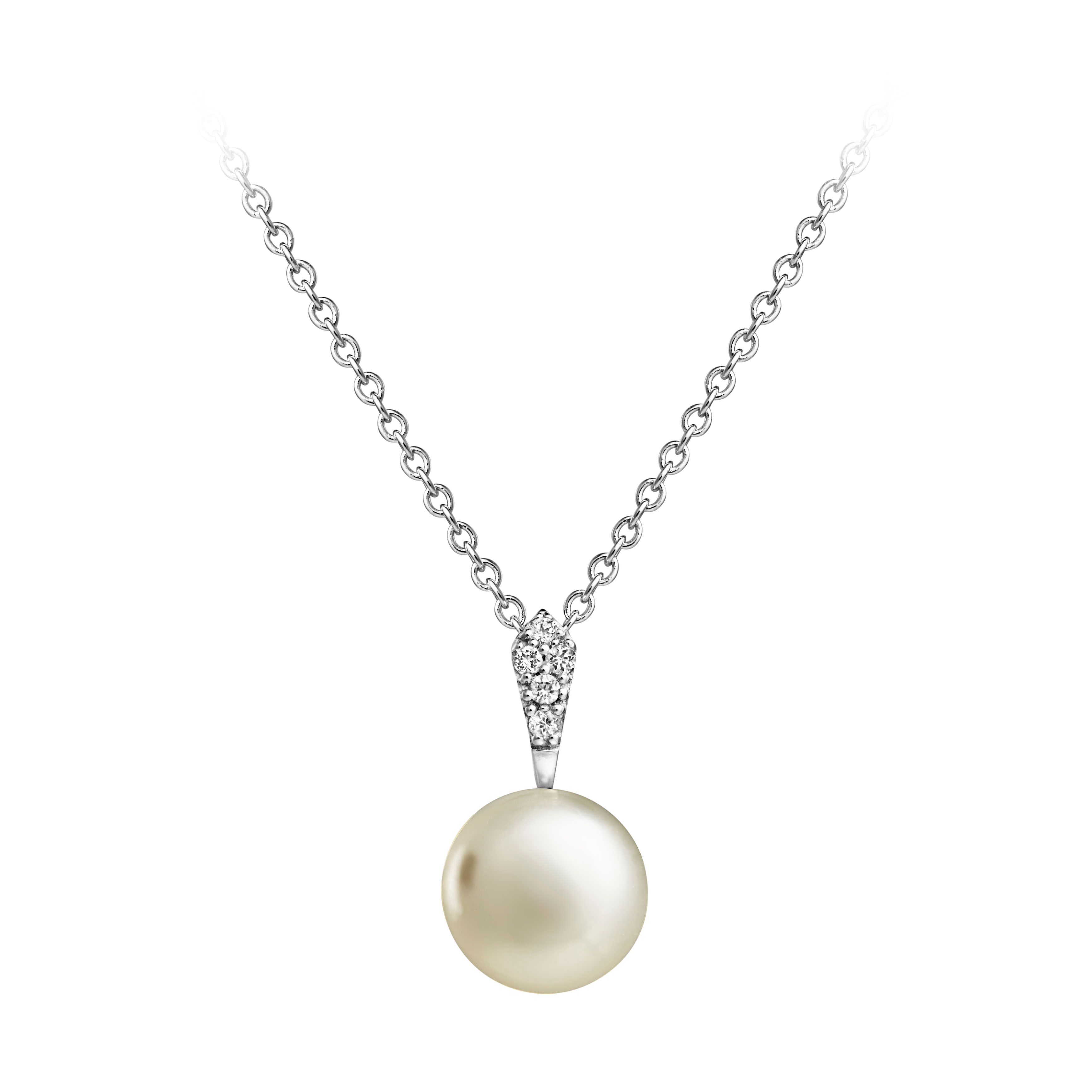 Jersey Pearl Jersey Pearl Freshwater Pearl & White Topaz Pendant, N/A