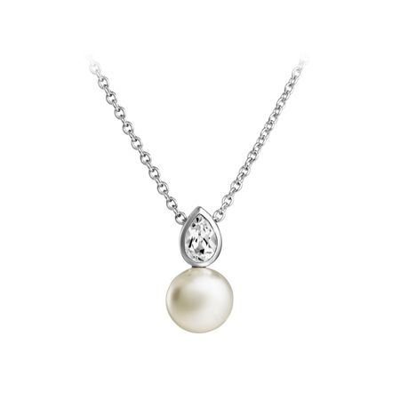 Jersey Pearl Freshwater Pearl & White Topaz Pendant