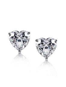1ct Heart Solitaire Studs