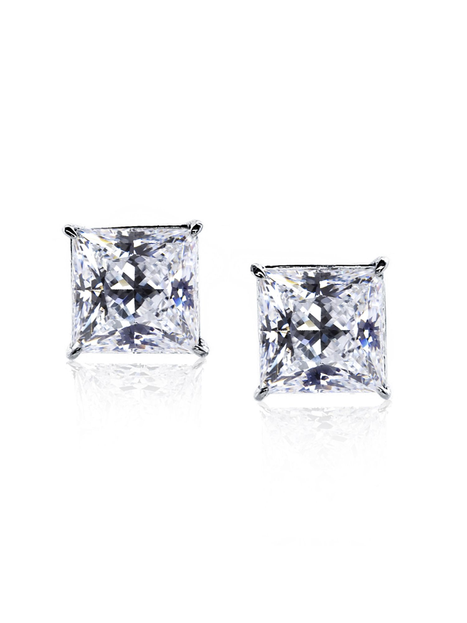 1.25ct Princess Solitaire Studs