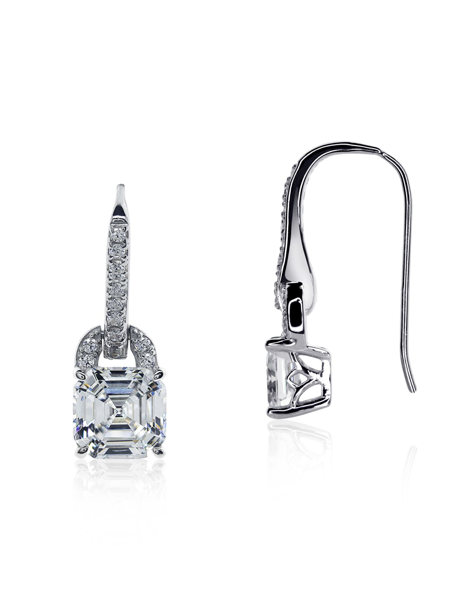 Asscher Drop Earrings