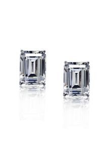 1ct Emerald Solitaire Studs