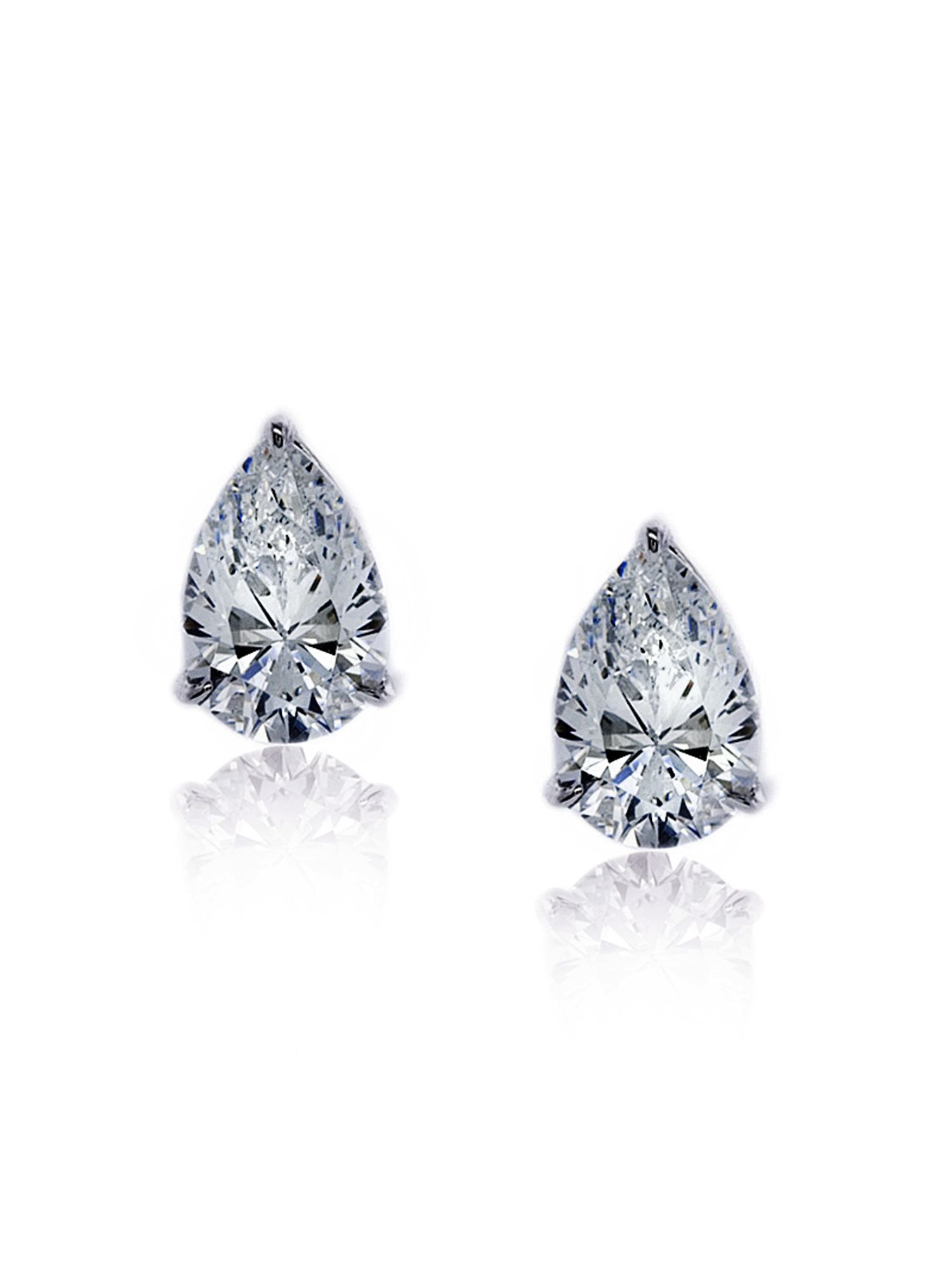 0.5ct Pear Solitaire Studs
