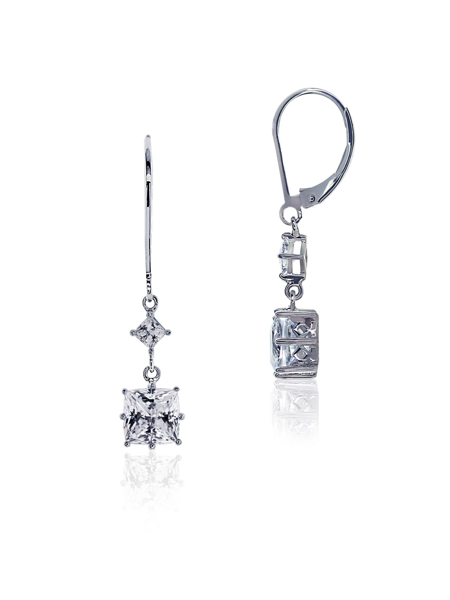 Princess Long Euro Fancy Drop Earrings