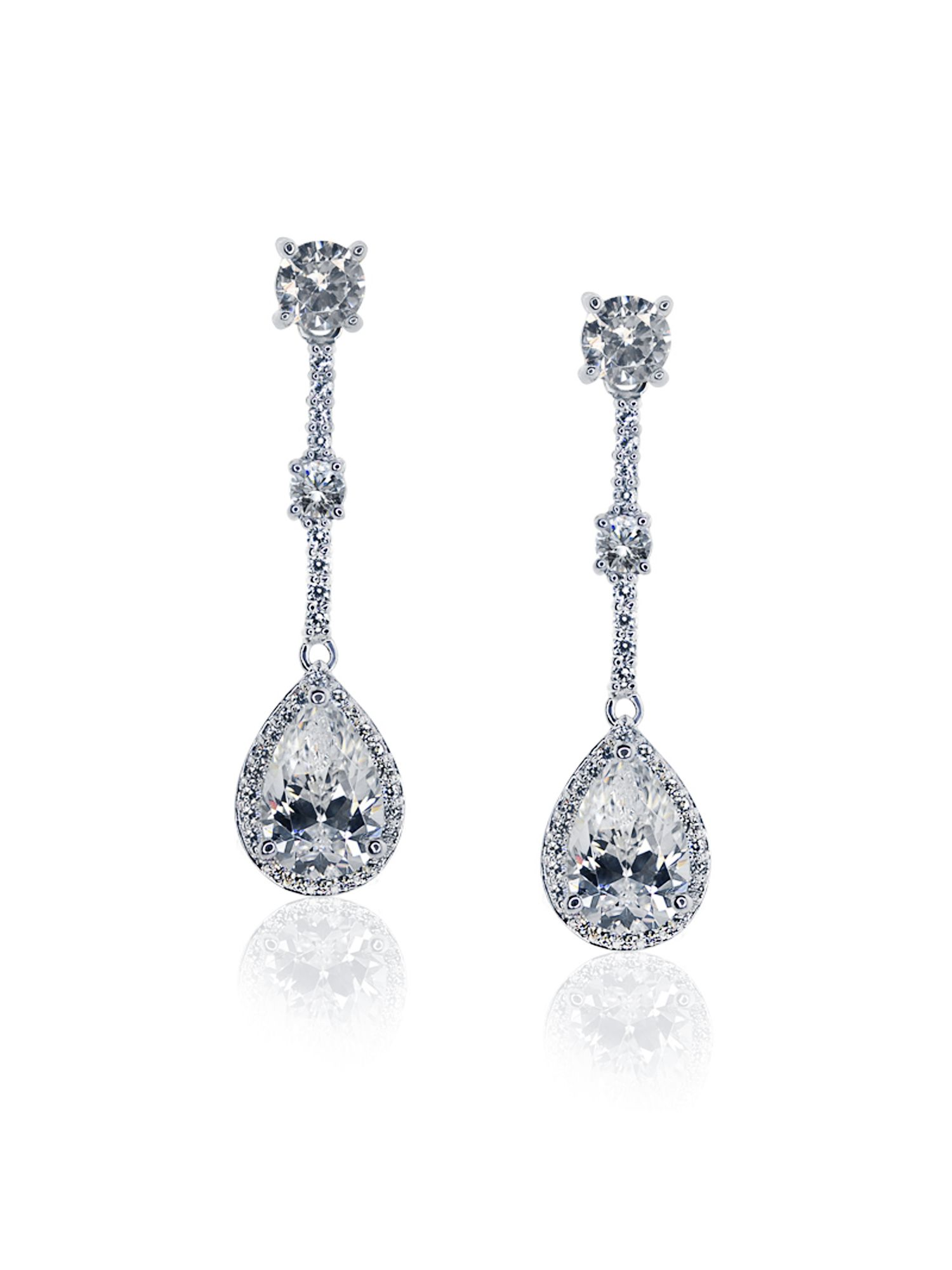 Fancy Pear Drop Earrings
