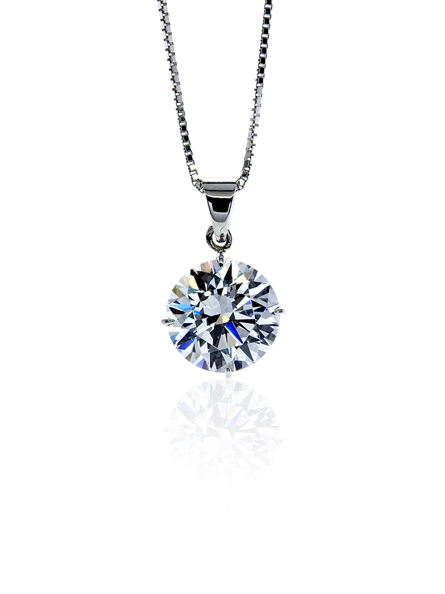 1ct Round Solitaire Pendant with Chain