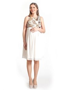 Rock-a-Bye Rosie Elizabeth sequin bodice maternity dress