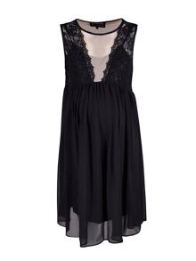 Maternity lace detailed swing dress