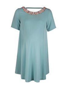 Leith jewel trim maternity dress