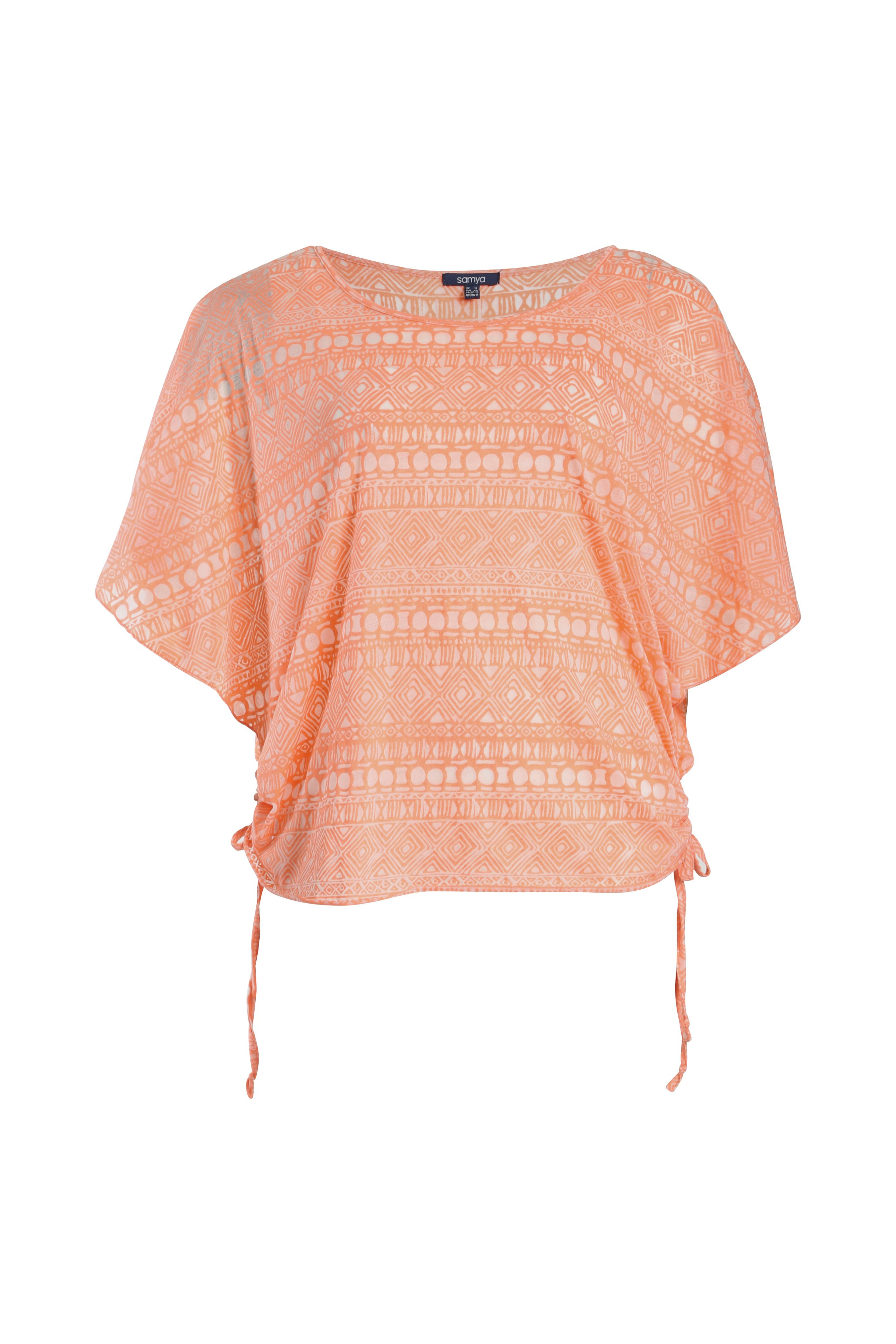 Aztec printed oversized top