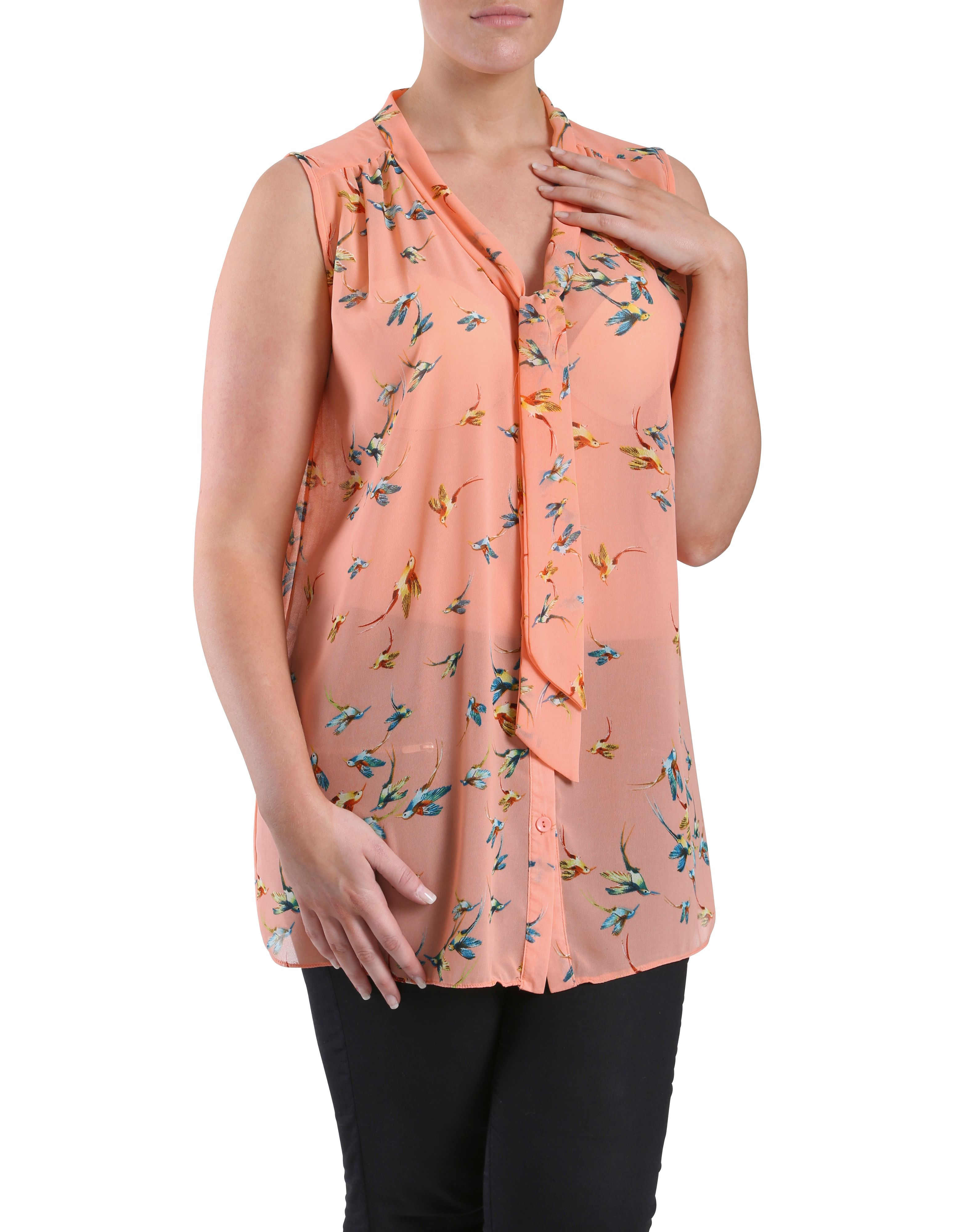 Hummingbird printed top