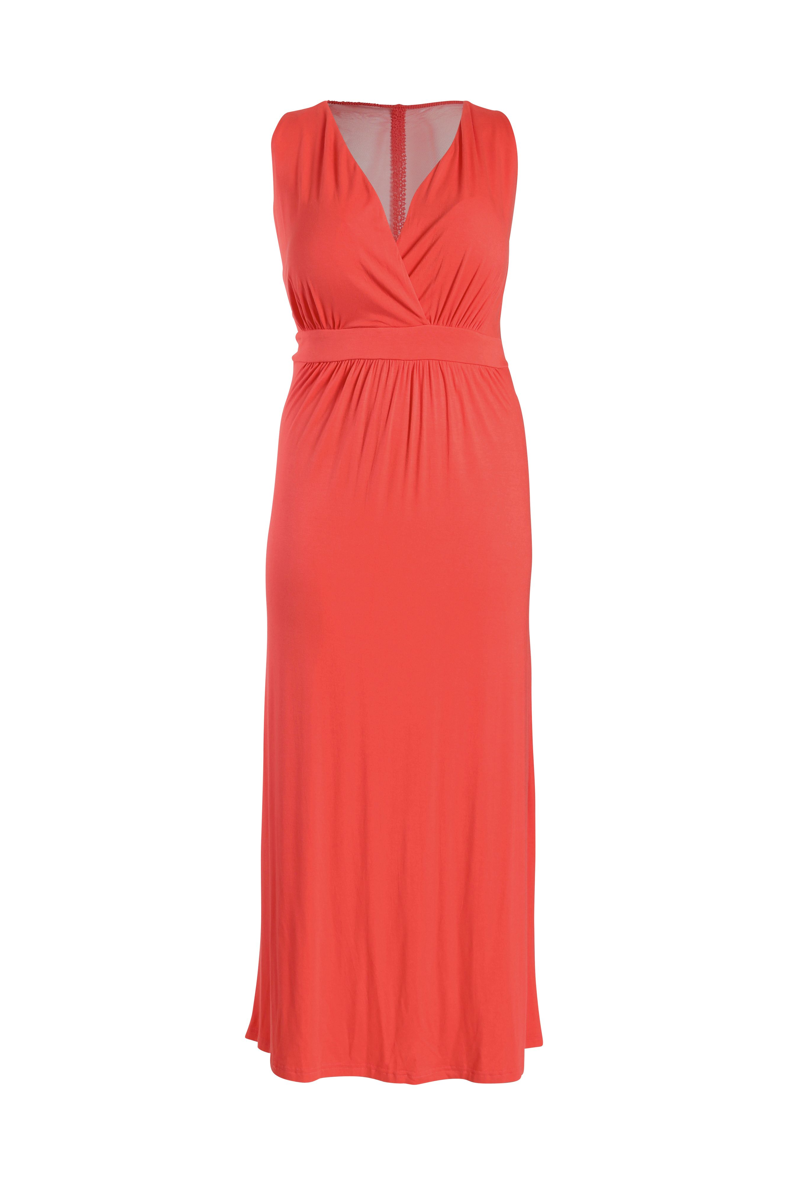 Maxi dress with mesh back