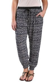 Tribal peg trousers with satin trim