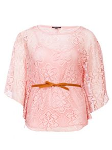 Samya Angel sleeve floral crochet top