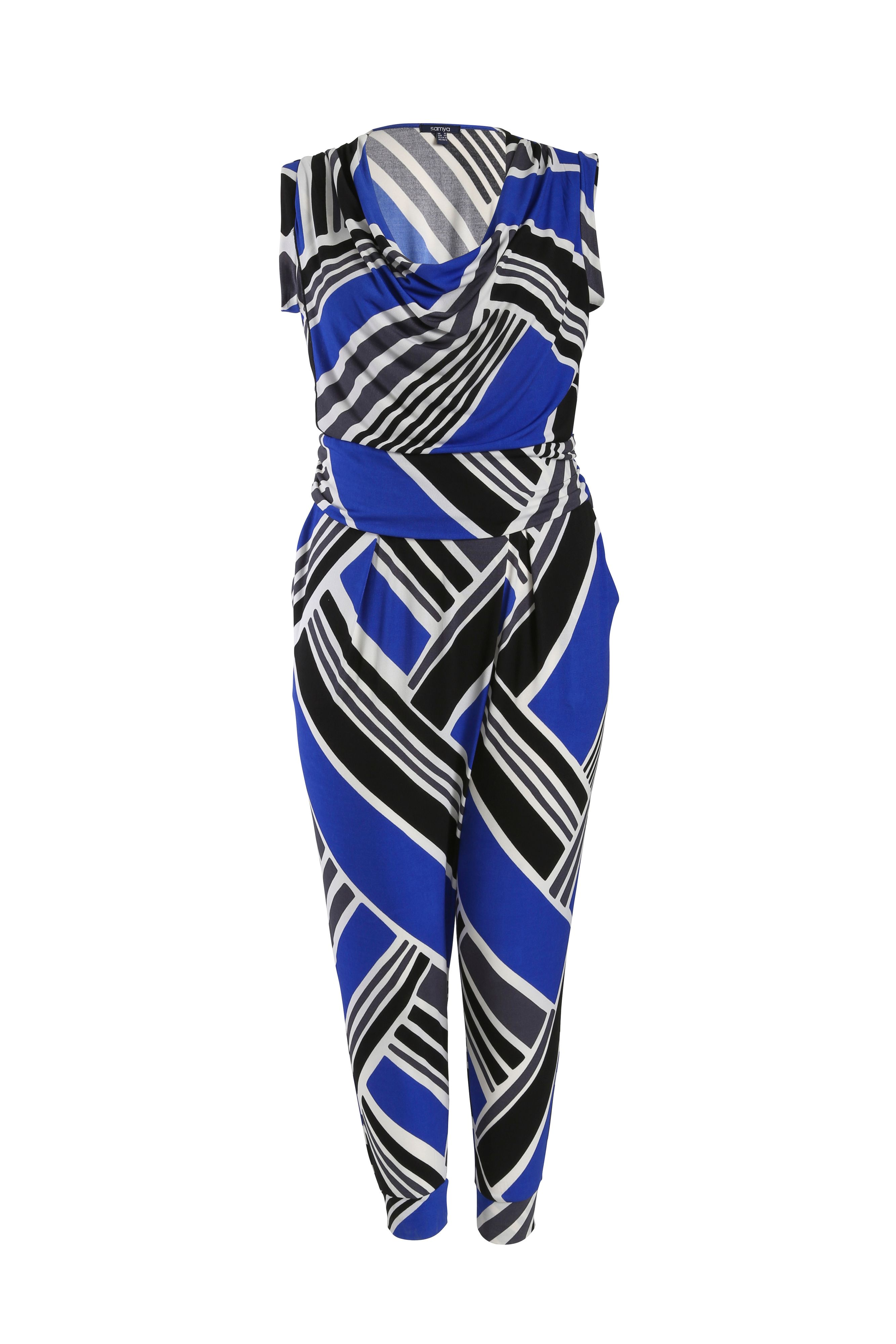 Jumpsuit in diagonal stripe