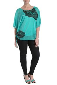 Butterfly kimono top with side tie