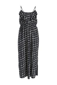 Side split printed maxi dress