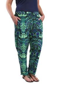 Samya Plus Size Trousers in abstract print with zip