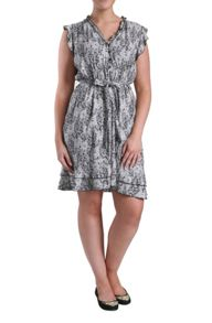 A-line dress in lace print