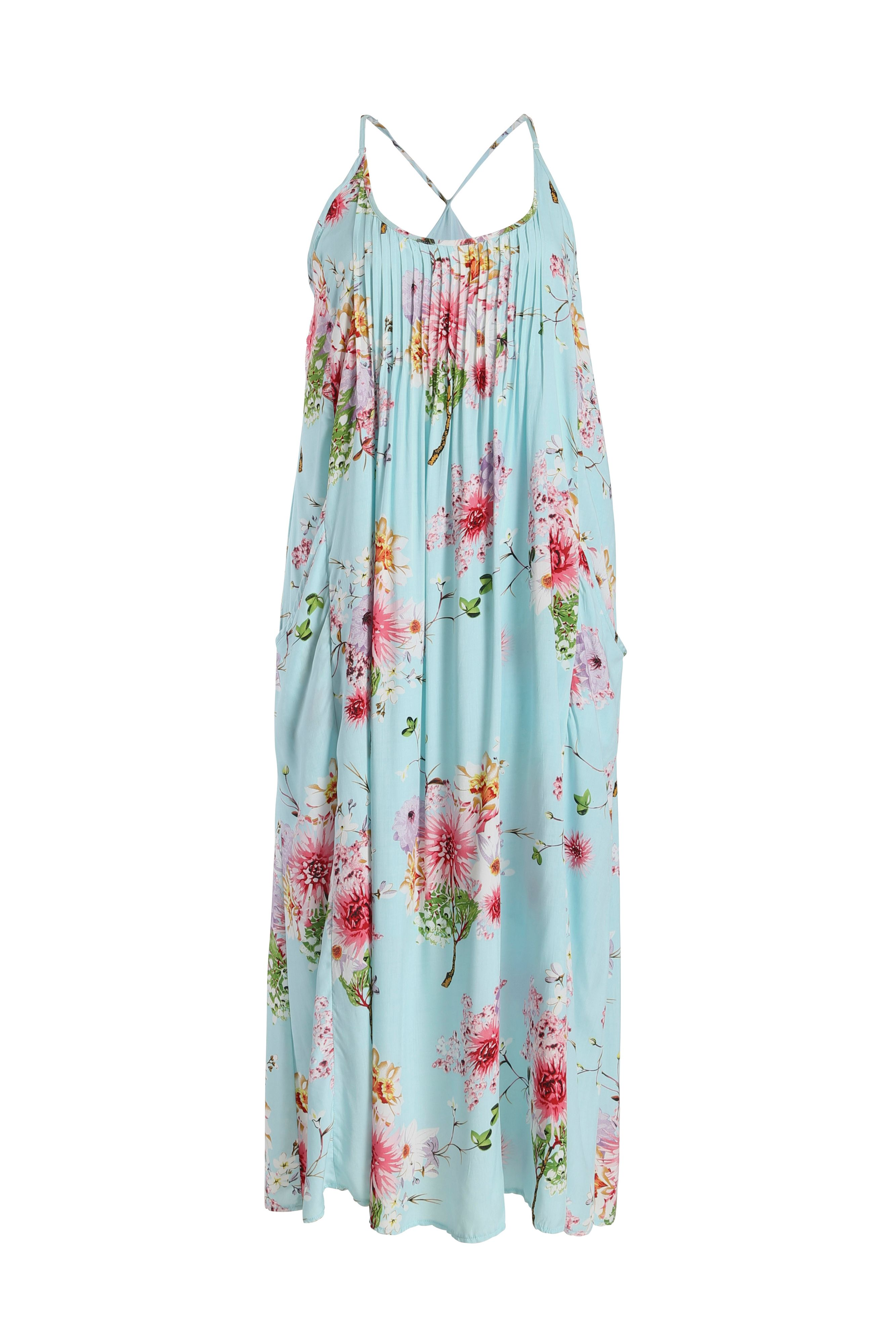 Botanical printed maxi dress