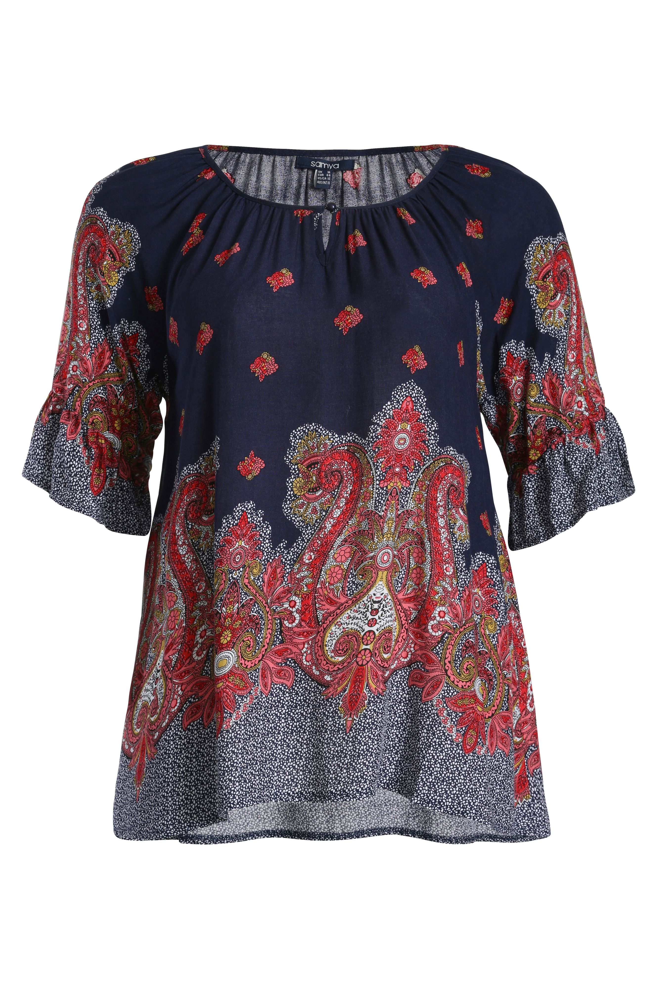 Eastern print tunic top