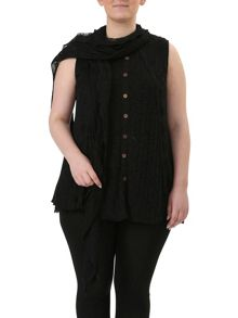 Layered Top With Scarf In Texture