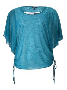 Dipped Hem Batwing Top
