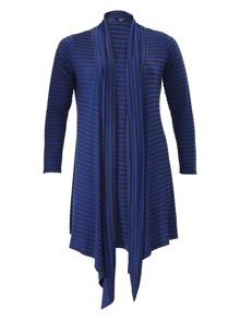 Samya Striped Waterfall Cardigan