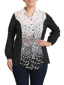 Samya Abstract Print Blouse