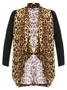 Leopard Print Waterfall Cardigan