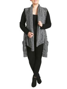 Contrast Sleeve Knit Cardigan