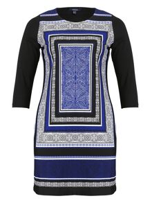 Samya Eastern Print Shift Dress