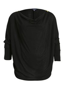 Batwing Jumper With Shoulder Zips