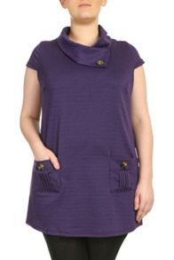 Cowlneck Buttoned Top