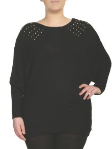 Studded Oversized Pullover