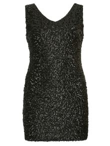 Plus Size Sequin Bodycon Mini Dress