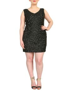 Samya Plus Size Sequin Bodycon Mini Dress
