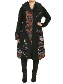 Samya Plus Size Embroidered Long-Line Cardigan