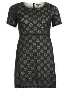 Samya Plus Size Floral Cut-Out Detail Dress