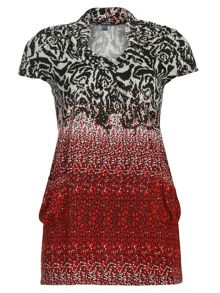 Flower Printed Tunic Top